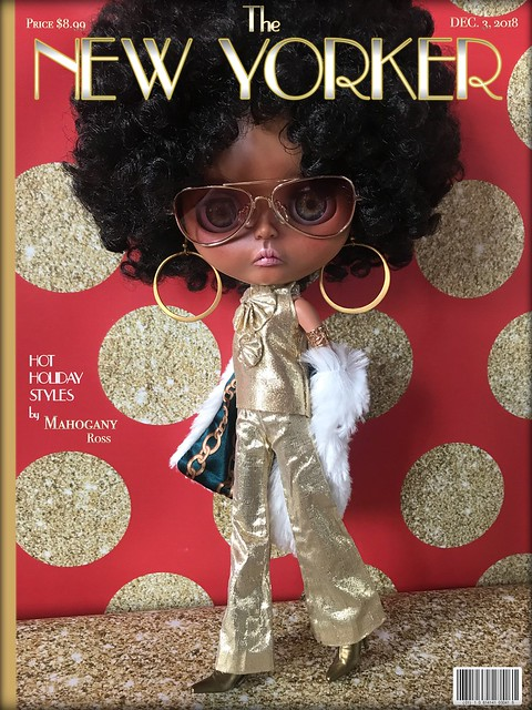 The New Yorker Magazine Cover Girl:   DECEMBER 2018  {Mahogany Ross}     ...Holiday Fashion Exclusive!