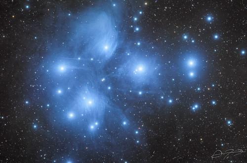 The Pleiades (M45) - LRGB   by Alejandro Pertuz