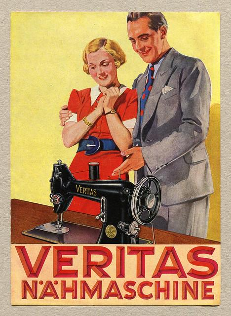Werbeblatt für die Veritas Nähmaschine