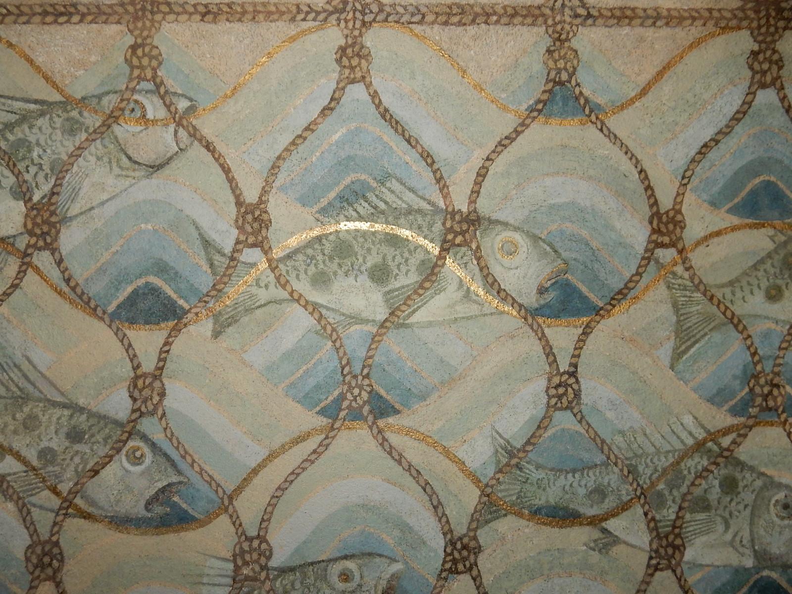 Fish, Hascombe church Milford to Godalming