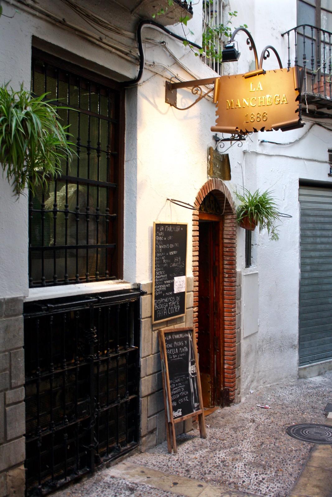Entrance to the bar La Manchega, Jaén, Spain