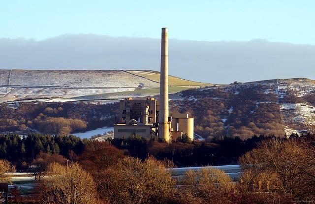 hope cement works snow castleton derbyshire