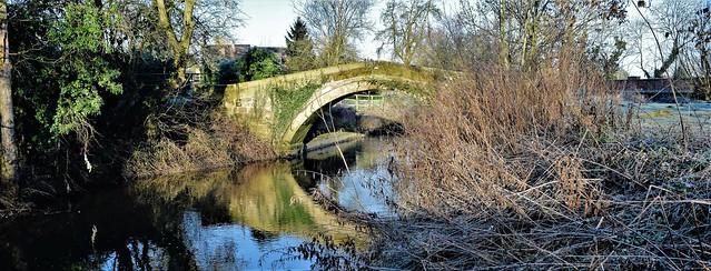 Town End packhorse bridge & Cod Beck, Sowerby, North Yorkshire, England