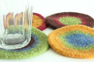 Felted Coasters - Amy Two | by smithsoccasional