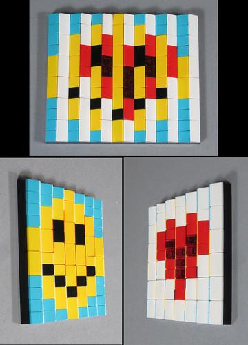 Happy, Love - a 12x14 lenticular LEGO mosaic | by thropots