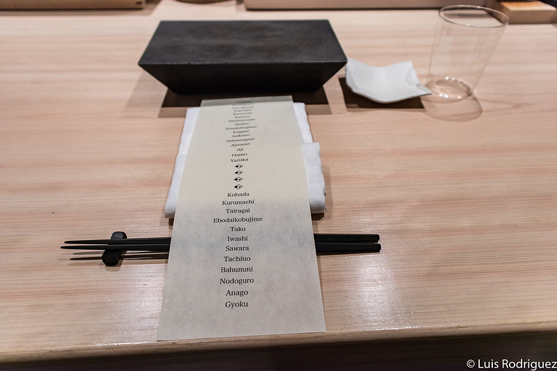 Menú en Hakkoku