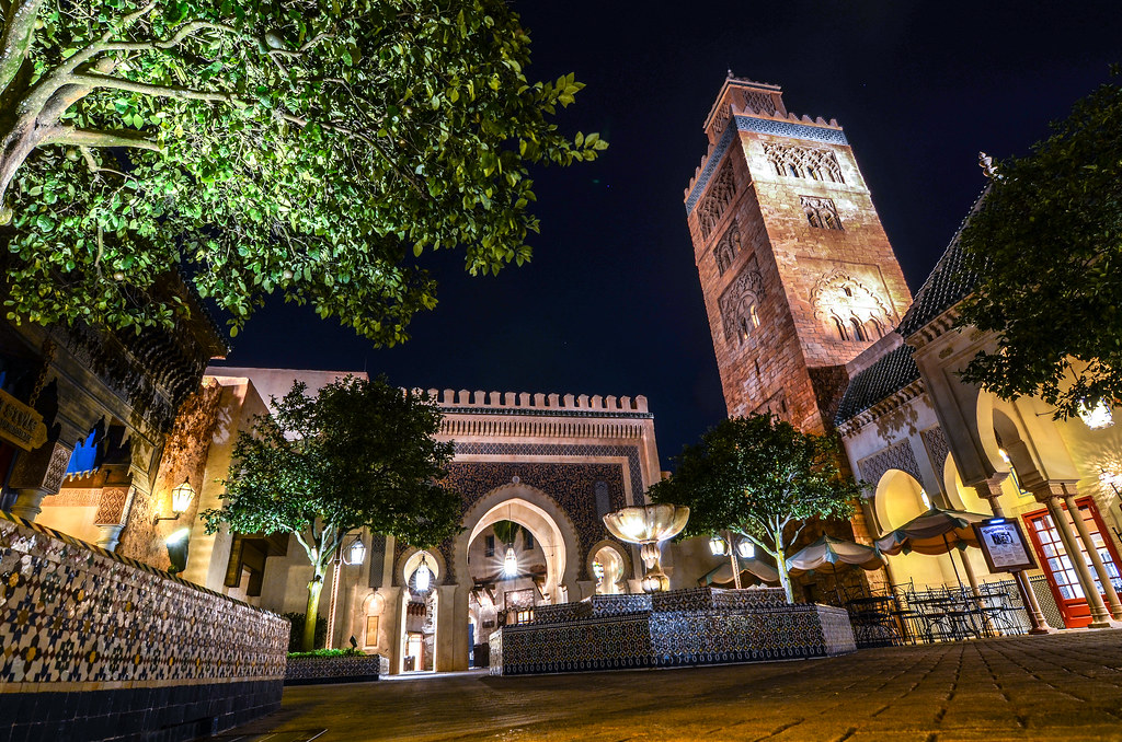 Morocco Pavilion night Epcot