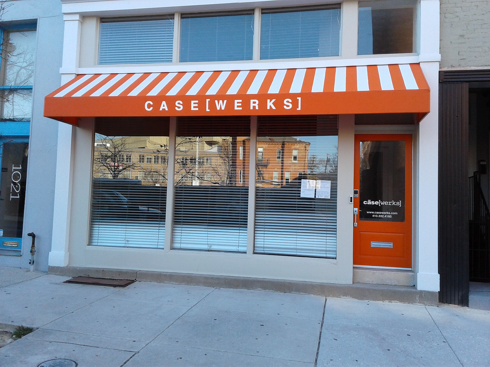 Striped Storefront Awning Makes a Statement