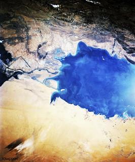 The south Persian Gulf. Original from NASA. Digitally enhanced by rawpixel.