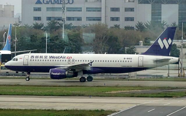 West Air China Airbus A320 B-1802