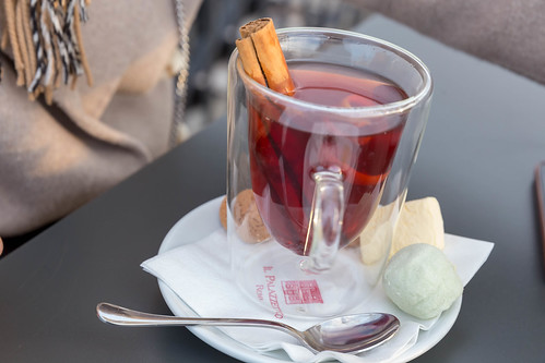 Fruit tea with a cinnamon stick | by verchmarco
