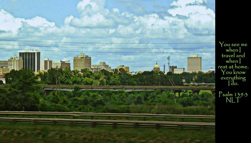 city urban hdr architecture travel us usa unitedstates america cbd downtown jackson mississippi skyline interstate20 clouds landscape ms