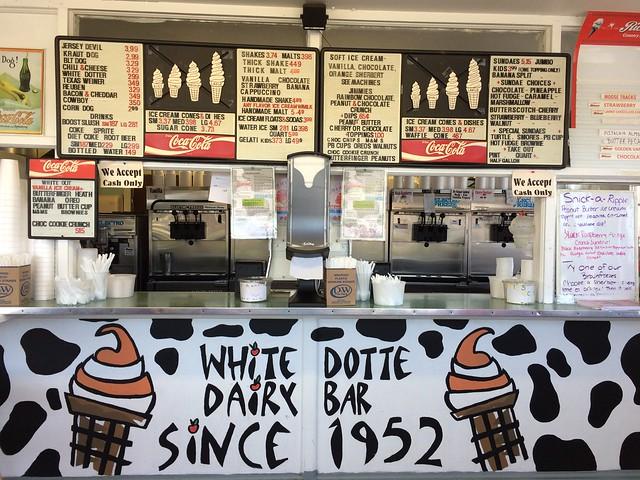 White Dotte Dairy Bar Southampton Twp NJ New Jersey Retro Roamap
