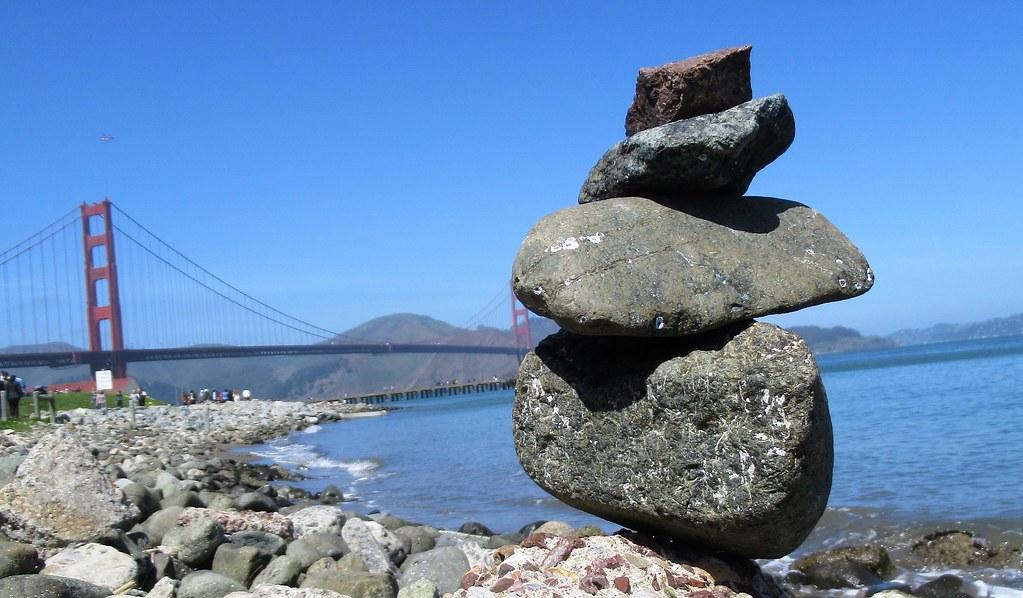 Stone Balancing Stone Balancing Crissy Field San Francisco