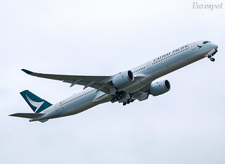 F-WZGL Airbus A350 Cathay Pacific | by @Eurospot