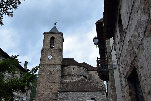 Iglesia de Echo (Aragón, España, 12-10-2018)