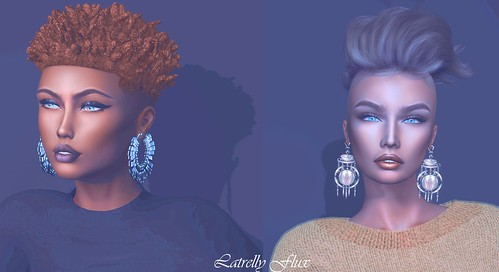 Latrelly~Catwa Catya Bento Head and Unorthodoz Purdie Hair Ginger Color and Lelutka 3.3 Head of Left