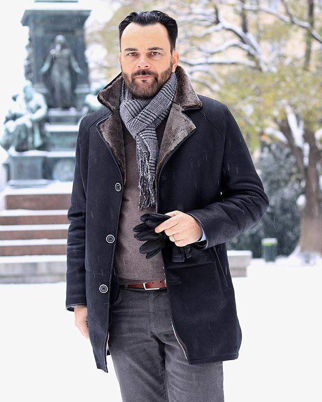2679237f2b9 What do you plan It s snowing today - casual friday outfit with a shearling  coat. What do you plan