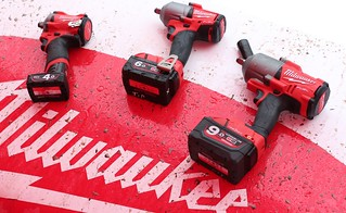 Milwaukee tools on a sponsored racing cars hood | by Dag Kirin