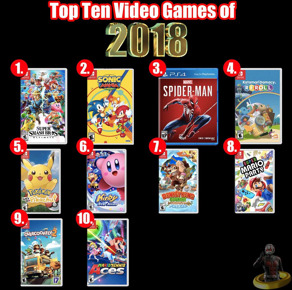 Top Ten Video Games of 2018