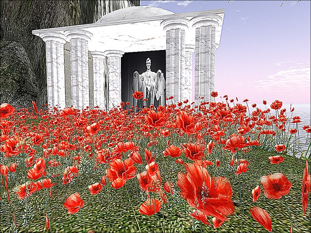 Second Life Veterans Tribute 2018  -  Rememberance of Poppies
