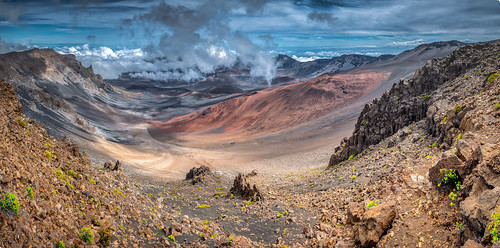 kula hawaii unitedstates us haleakala crater volcano nationalpark maui nature mountain panorama opa