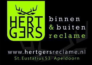 Hertgers reclame advertentie