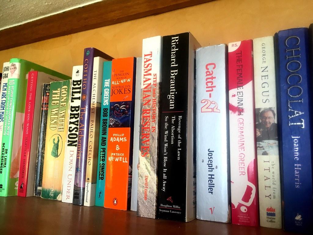 Bookshelf. Yes, I judge people by their bookshelves.