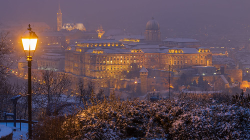 2019 70d budacastle budaivar budapest canon hungary magyarorszag royalpalaceofbuda unesco varnegyed city longexposure night outdoor outside palace palota sightseeing snow tel town urban winter winterphotography 1000v40f