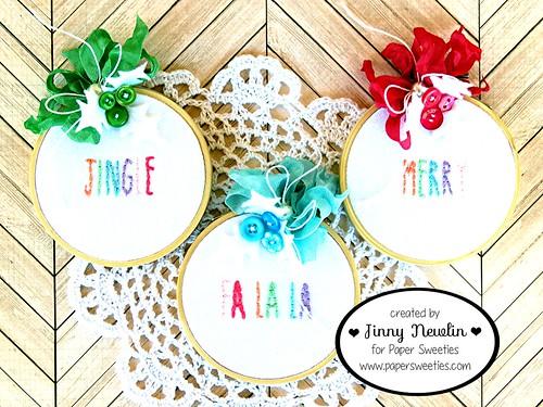 Christmas Embroidery Hoop Decor