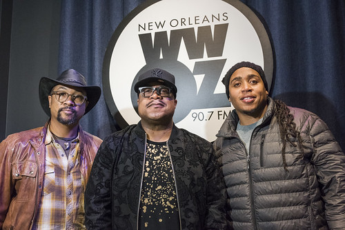 Roland Guerin, Nicholas Payton, and Jamison Ross at WWOZ's 38th birthday - 12.4.18. Photo by Ryan Hodgson-Rigsbee rhrphoto.com.