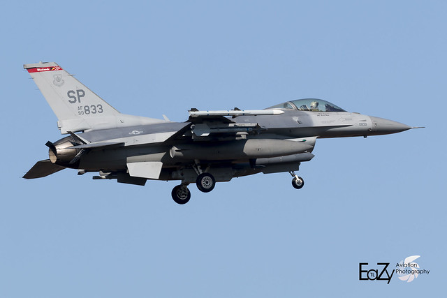 90-0833 United States Air Force General Dynamics F-16CM Fighting Falcon