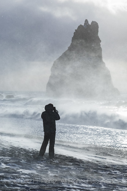 Waves Crashing on Reynisfjara Beach near Vik in Iceland