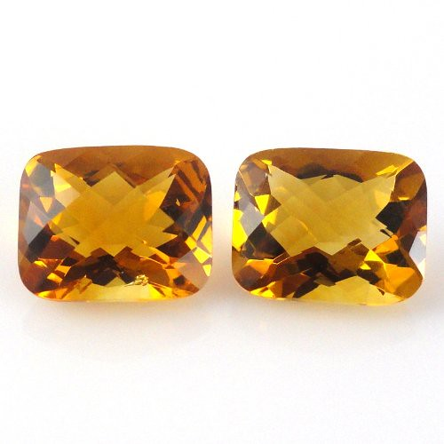 natural citrine faceted cut cushion loose gemstone | by gemstone international
