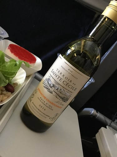 White wine in airplane