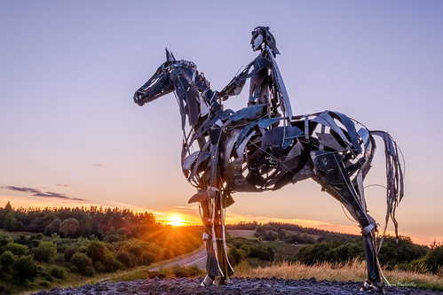 mountains curlew mauriceharron celtic chieftain doon boyle ireland roscommon horse sculpture sunset sun star landscape irelandshiddenheartlands