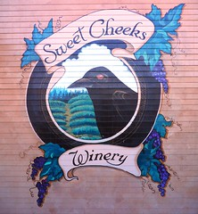 Sweet Cheeks Winery mural in Lane County, Oregon