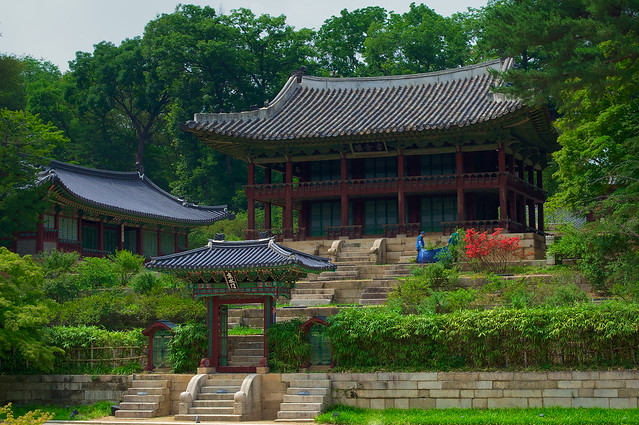 Royal pavillion in the Changdeokgung Palace complex, South Korea