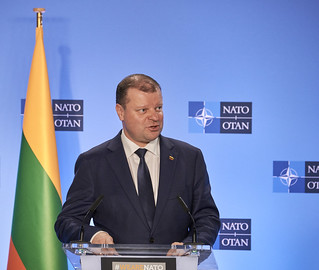 The Prime Minister of the Republic of Lithuania visits NATO | by NATO