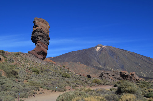 Roque Cinchado and Mount Teide, Teide National Park, Tenerife, Canary Islands | by BuzzTrips