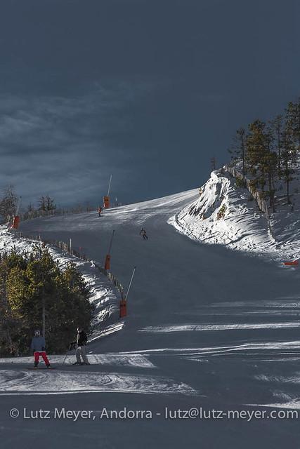 Andorra at winter: La Massana, Vall nord, Andorra