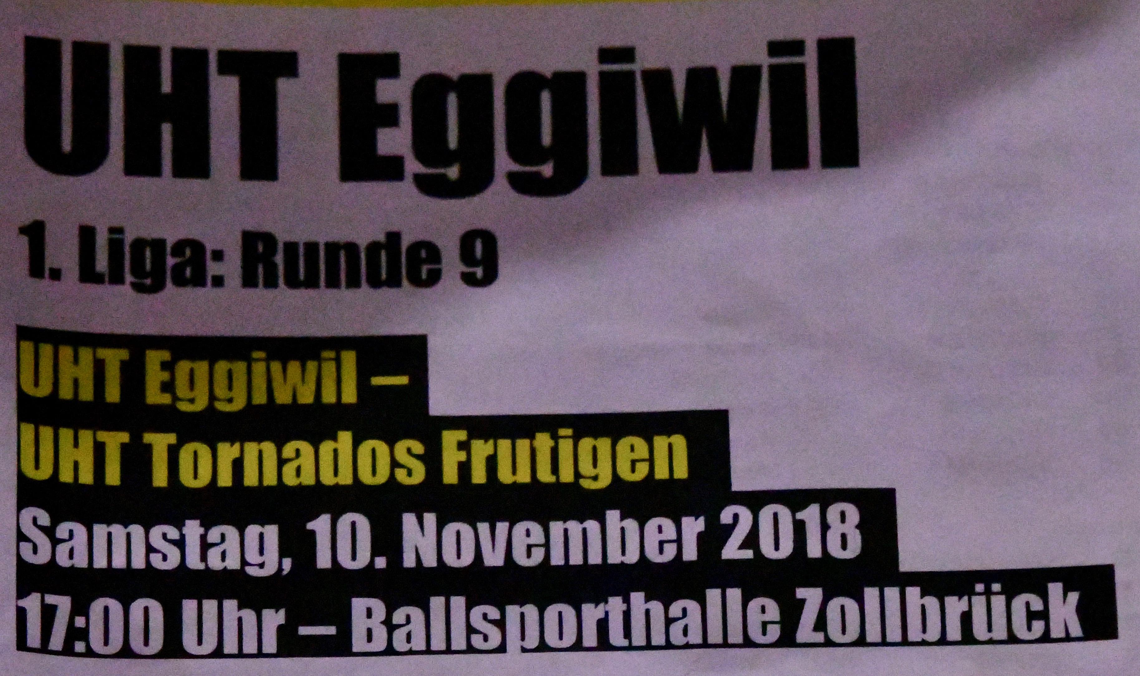 Herren I - UHT Tornados Frutigen Saison 2018/19
