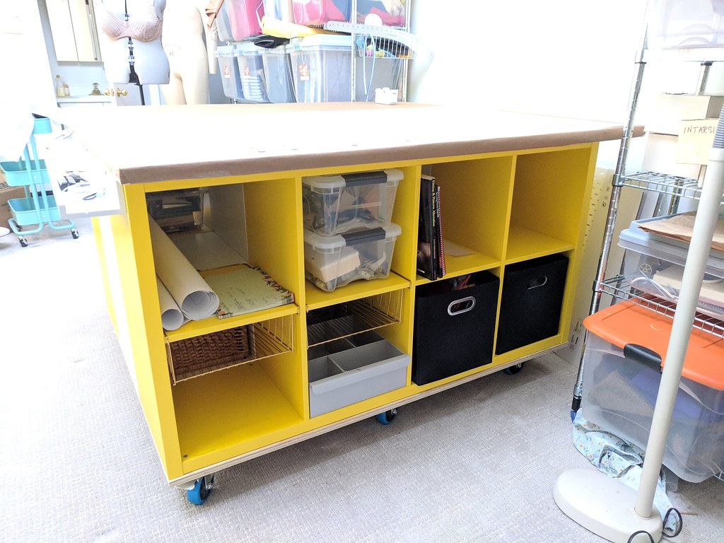 Ikea Kallax Cutting Sewing Table Hack Missceliespants Flickr