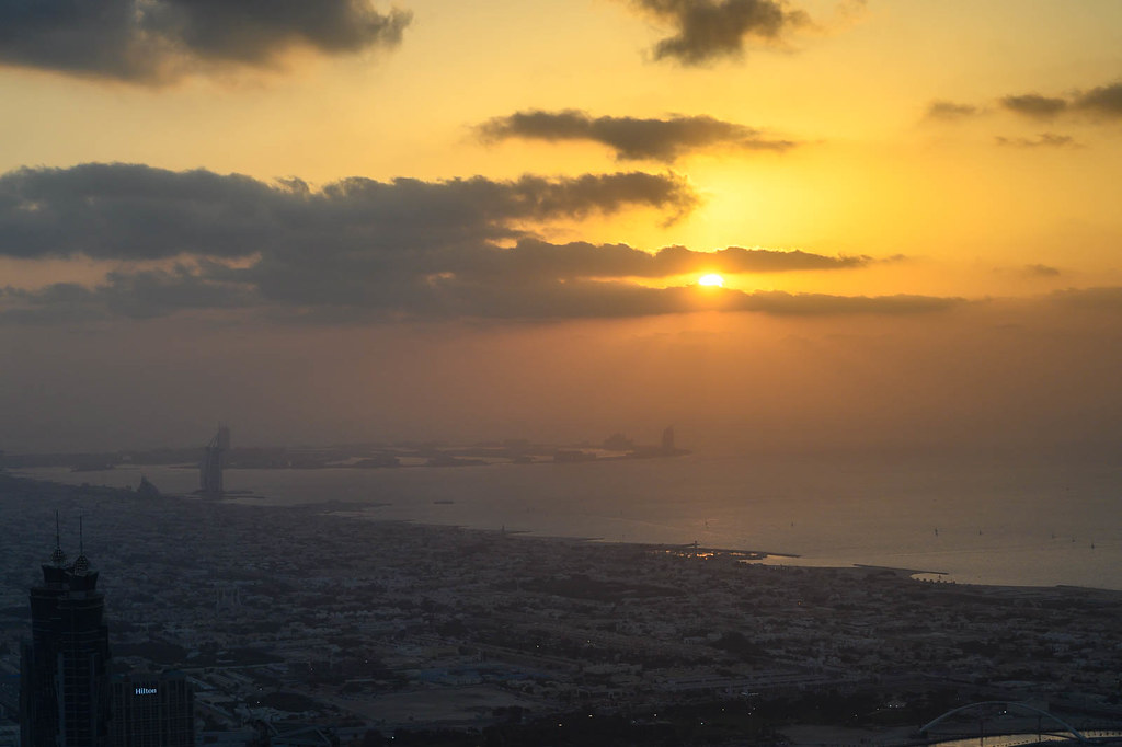 Sunset from Burj Khalifa