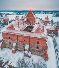 Trakai Island Castle | Lithuania Aerial
