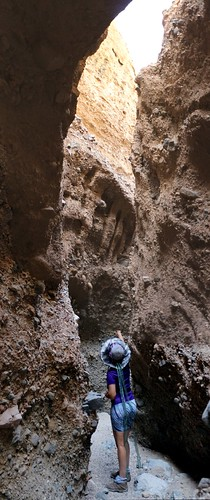 1332 Vertical panorama as we hike into Slot Canyon Three in Sidewinder Canyon   by _JFR_