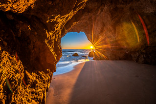 Nikon D850 Malibu Sea Cave Sunset Fine Art California Coast Beach Landscape Seascape Photography! El Matador State Beach Elliot McGucken Fine Art Pacific Ocean Sunset! Nikon D850 & AF-S NIKKOR 14-24mm F2.8G ED from Nikon! High Res 4k 8K Photography! | by 45SURF Hero's Odyssey Mythology Landscapes & Godde