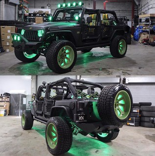 Usain Bolt's Jeep JK   by ORACLE LIGHTING