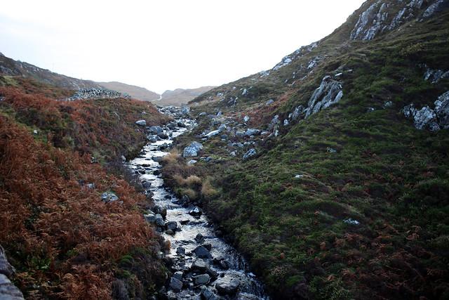 Stream out of Loch na Bruthaich near Clashnessie