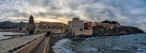 nikon d750 nikond750 tamronsp2470mmf28divcusd rubenhpinilla sunset colliure france panorama seascape landscape sea color